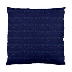 Summers Night Wave Chevron Blue Standard Cushion Case (two Sides)