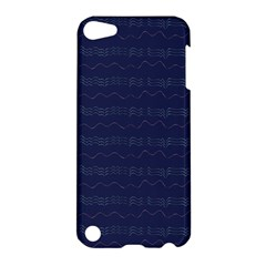 Summers Night Wave Chevron Blue Apple Ipod Touch 5 Hardshell Case