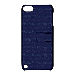 Summers Night Wave Chevron Blue Apple Ipod Touch 5 Hardshell Case With Stand
