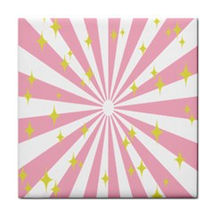 Star Pink Hole Hurak Tile Coasters