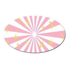Star Pink Hole Hurak Oval Magnet
