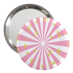 Star Pink Hole Hurak 3  Handbag Mirrors
