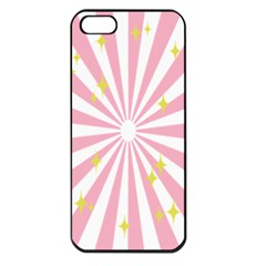 Star Pink Hole Hurak Apple Iphone 5 Seamless Case (black)