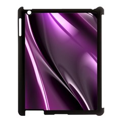 Purple Fractal Mathematics Abstract Apple Ipad 3/4 Case (black) by Amaryn4rt