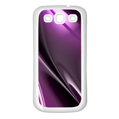 Purple Fractal Mathematics Abstract Samsung Galaxy S3 Back Case (white) by Amaryn4rt