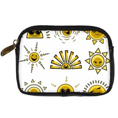 Sun Expression Smile Face Yellow Digital Camera Cases