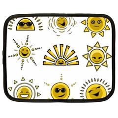 Sun Expression Smile Face Yellow Netbook Case (xl)
