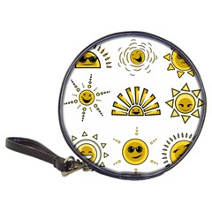 Sun Expression Smile Face Yellow Classic 20 Cd Wallets