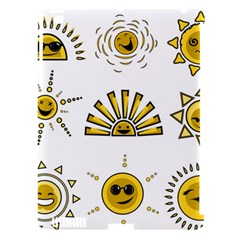 Sun Expression Smile Face Yellow Apple Ipad 3/4 Hardshell Case (compatible With Smart Cover) by Alisyart