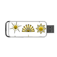 Sun Expression Smile Face Yellow Portable Usb Flash (two Sides) by Alisyart