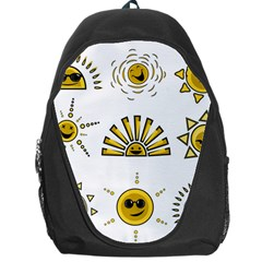 Sun Expression Smile Face Yellow Backpack Bag