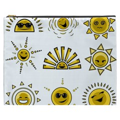 Sun Expression Smile Face Yellow Cosmetic Bag (xxxl)  by Alisyart