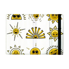 Sun Expression Smile Face Yellow Apple Ipad Mini Flip Case