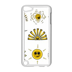 Sun Expression Smile Face Yellow Apple Ipod Touch 5 Case (white) by Alisyart
