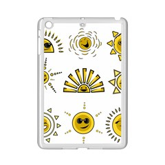 Sun Expression Smile Face Yellow Ipad Mini 2 Enamel Coated Cases