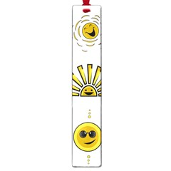 Sun Expression Smile Face Yellow Large Book Marks
