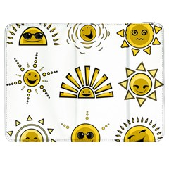 Sun Expression Smile Face Yellow Samsung Galaxy Tab 7  P1000 Flip Case by Alisyart