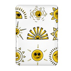 Sun Expression Smile Face Yellow Samsung Galaxy Tab 2 (10 1 ) P5100 Hardshell Case  by Alisyart
