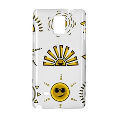 Sun Expression Smile Face Yellow Samsung Galaxy Note 4 Hardshell Case