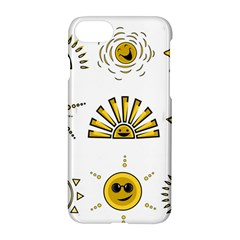 Sun Expression Smile Face Yellow Apple Iphone 7 Hardshell Case by Alisyart