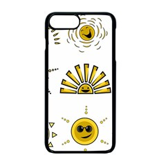 Sun Expression Smile Face Yellow Apple Iphone 7 Plus Seamless Case (black)