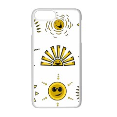 Sun Expression Smile Face Yellow Apple Iphone 7 Plus White Seamless Case by Alisyart