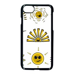 Sun Expression Smile Face Yellow Apple Iphone 7 Seamless Case (black) by Alisyart