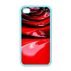 Red Fractal Mathematics Abstract Apple Iphone 4 Case (color) by Amaryn4rt