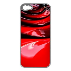 Red Fractal Mathematics Abstract Apple Iphone 5 Case (silver) by Amaryn4rt