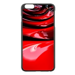 Red Fractal Mathematics Abstract Apple Iphone 6 Plus/6s Plus Black Enamel Case by Amaryn4rt