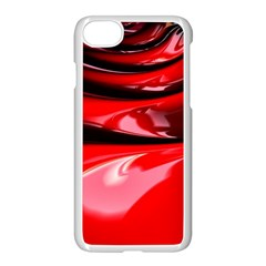 Red Fractal Mathematics Abstract Apple Iphone 7 Seamless Case (white) by Amaryn4rt