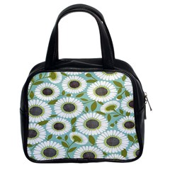 Sunflower Flower Floral Classic Handbags (2 Sides) by Alisyart