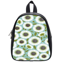 Sunflower Flower Floral School Bags (small)