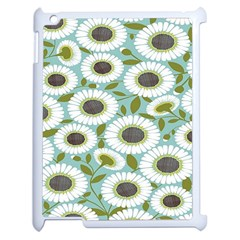 Sunflower Flower Floral Apple Ipad 2 Case (white)