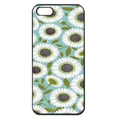 Sunflower Flower Floral Apple Iphone 5 Seamless Case (black)