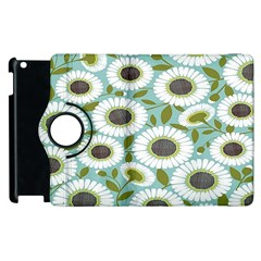 Sunflower Flower Floral Apple Ipad 3/4 Flip 360 Case