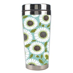Sunflower Flower Floral Stainless Steel Travel Tumblers