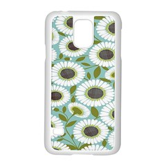 Sunflower Flower Floral Samsung Galaxy S5 Case (white)