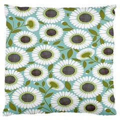 Sunflower Flower Floral Standard Flano Cushion Case (one Side)