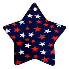 Star Red White Blue Sky Space Ornament (star)