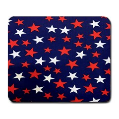 Star Red White Blue Sky Space Large Mousepads