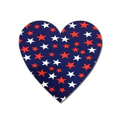 Star Red White Blue Sky Space Heart Magnet by Alisyart