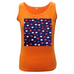 Star Red White Blue Sky Space Women s Dark Tank Top