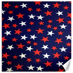 Star Red White Blue Sky Space Canvas 16  X 16   by Alisyart