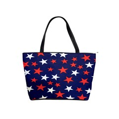 Star Red White Blue Sky Space Shoulder Handbags by Alisyart