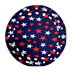 Star Red White Blue Sky Space Round Filigree Ornament (two Sides) by Alisyart