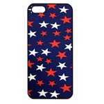 Star Red White Blue Sky Space Apple iPhone 5 Seamless Case (Black) Front
