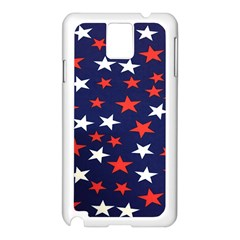 Star Red White Blue Sky Space Samsung Galaxy Note 3 N9005 Case (white)