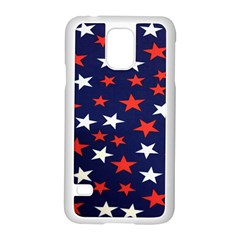 Star Red White Blue Sky Space Samsung Galaxy S5 Case (white)