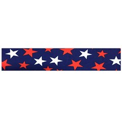 Star Red White Blue Sky Space Flano Scarf (large)